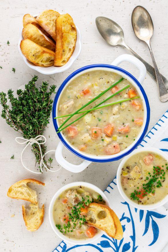 zuppa cremosa al pollo officina golosa